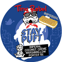 TINY REBEL BREWING - IMPERIAL COCONUT CREAM MARSHMALLOW STAY PUFT (Imperial Porter)