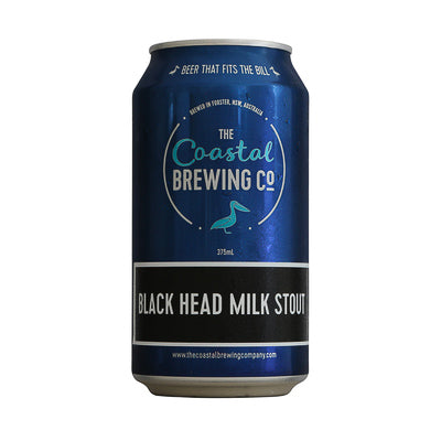 THE COASTAL BREWING CO - BLACK HEAD MILK STOUT