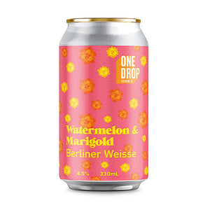 ONE DROP BREWING - WATERMELON & MARIGOLD (Sour Berliner Weisse)