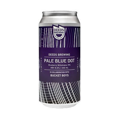 DEEDS BREWING - PALE BLUE DOT (Blueberry Milkshake IPA)