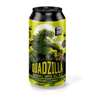 ONE DROP BREWING - QUADZILLA (QDH pale ale)