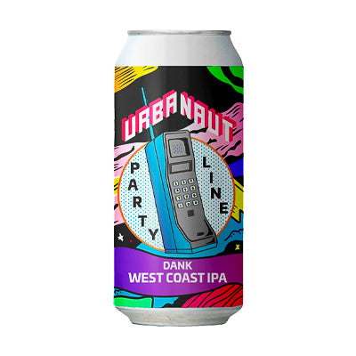 URBANAUT BREWING CO. - DANK WEST COAST IPA - PARTY LINE SERIES (American IPA)