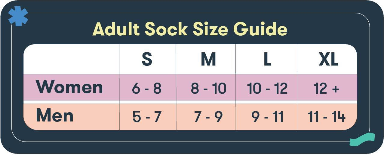 Adult Sock Size Guide