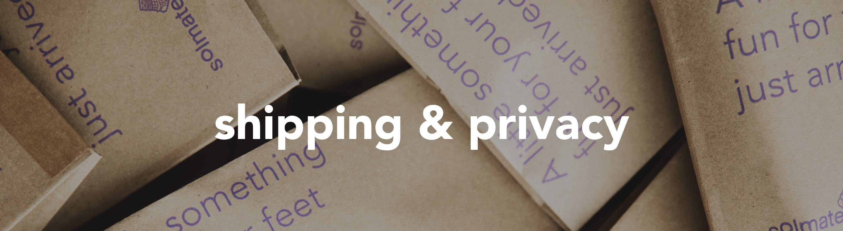 Shipping & Privacy
