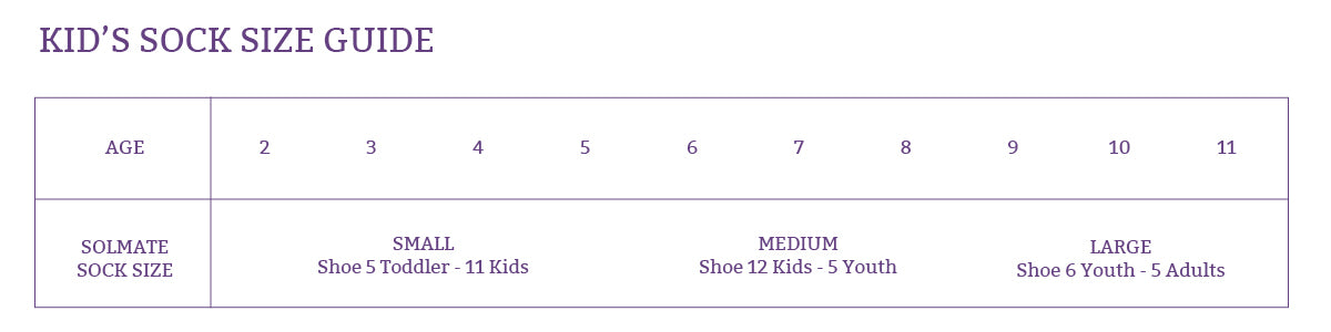 Kids Sock Size Guide