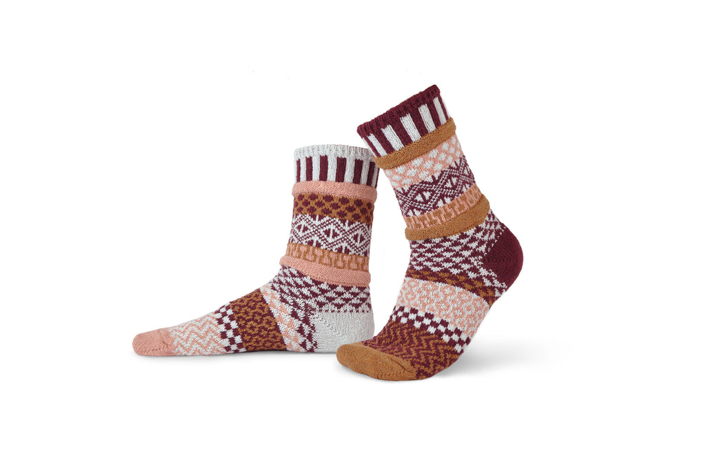 Amaranth Crew Socks