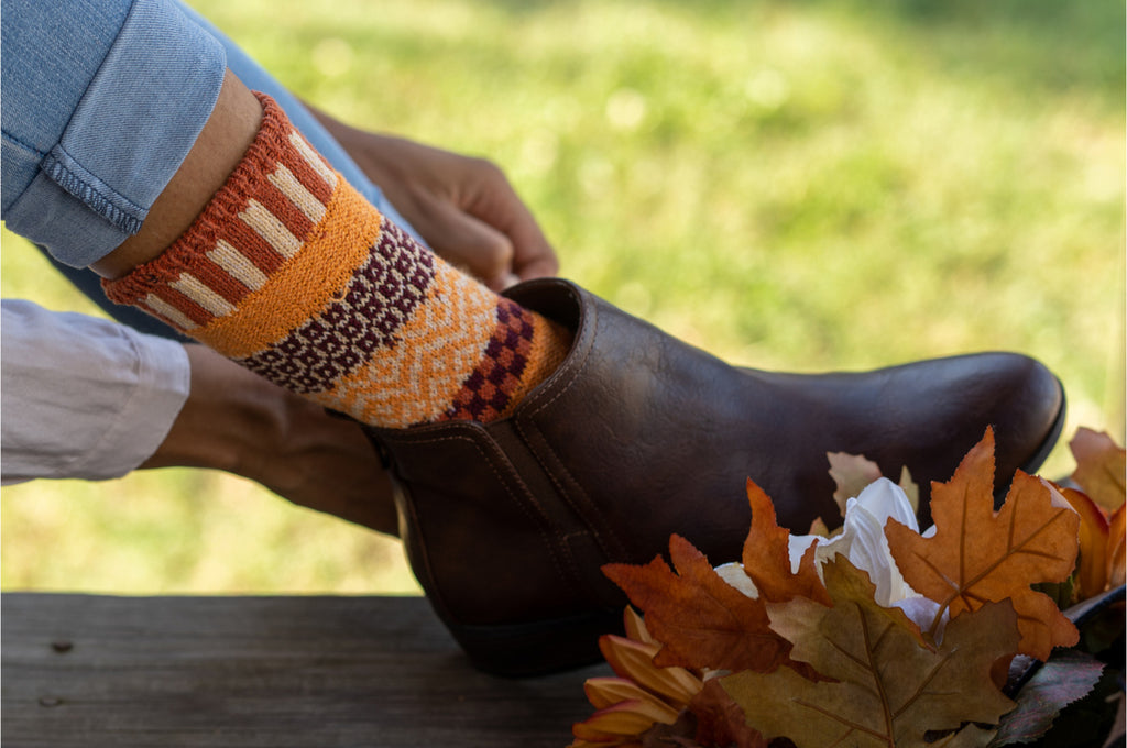 Pumpkin Pie Crew Socks