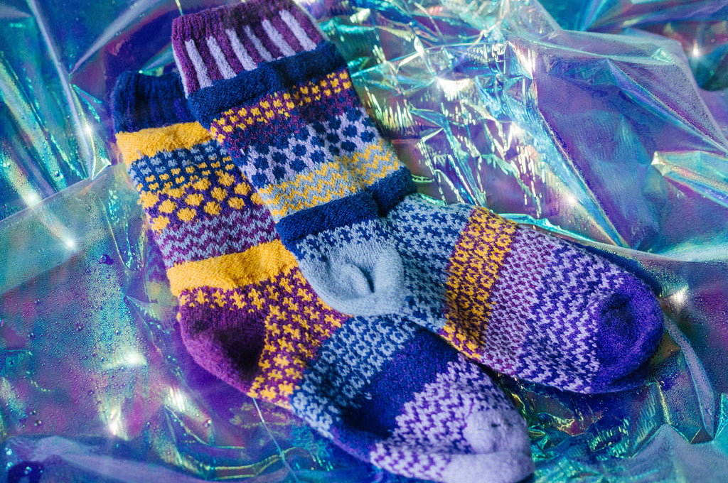 Purple Rain Crew Socks