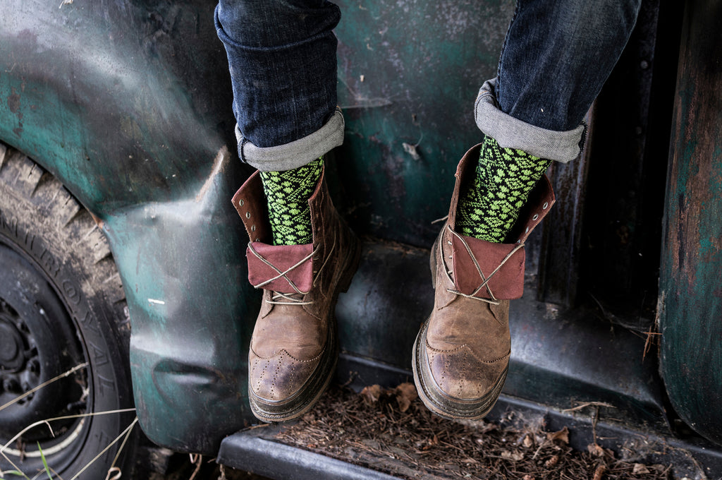 Cathedral Pistachio Crew Socks