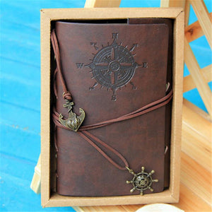 85 sheets Nautical Classic Retro Vintage Leather Cover Bound Blank String Notebooks Journal Diary Traveler Book Stationery