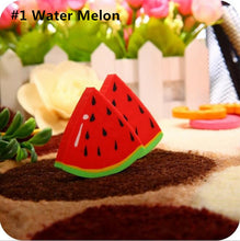 1pcs/pack Cute Fresh Fruit design eraser Kawaii Watermelon Orange Kiwifruit erasers students' gift prize office school supplies