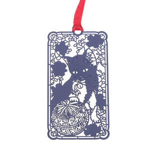 Cute Black Cat Metal Bookmark Label Creative Gifts for Students Friends Book Holder for Book Paper  Special Cutting Dies