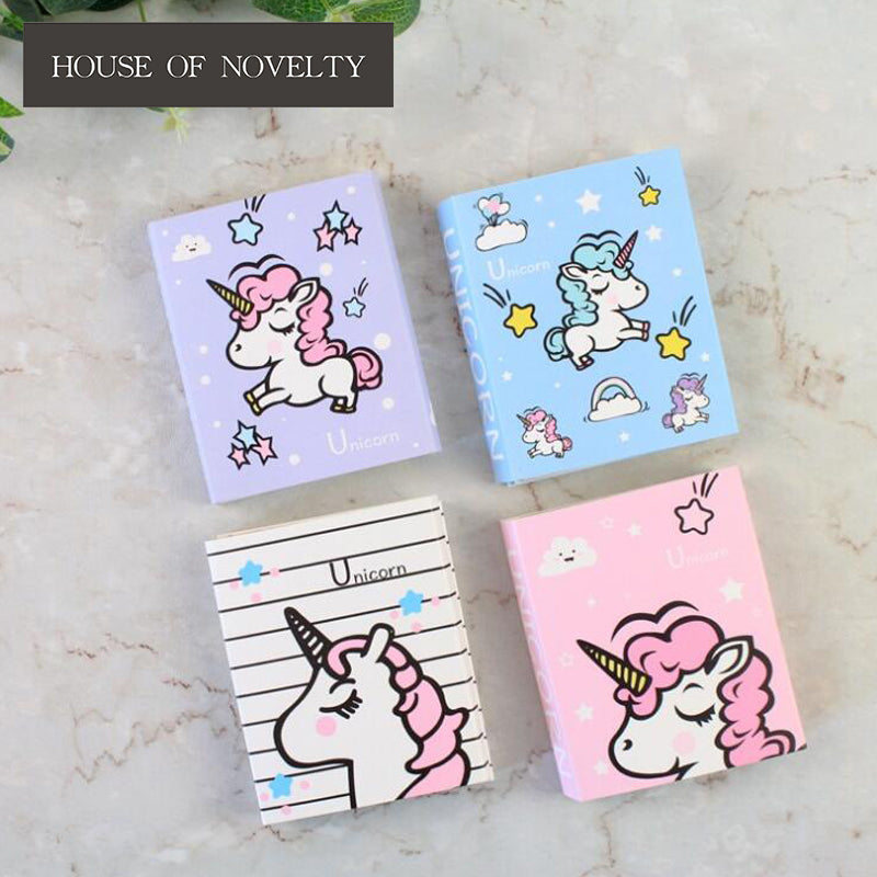 Unicorn 4 Folding Memo Pad N Times Sticky Notes Memo Notepad Bookmark Gift Stationery