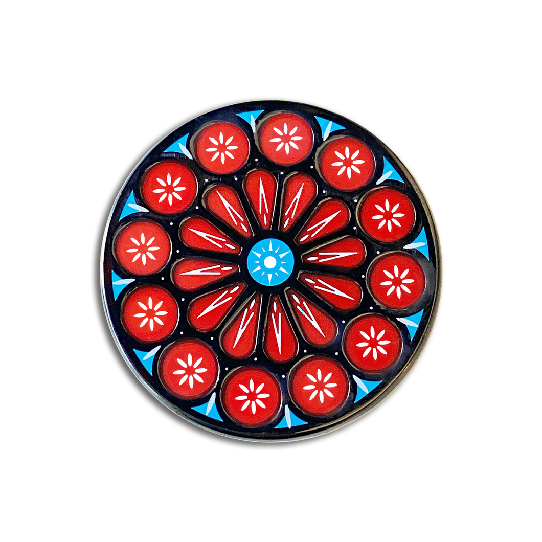 Rose Window Pin [Translucent!]