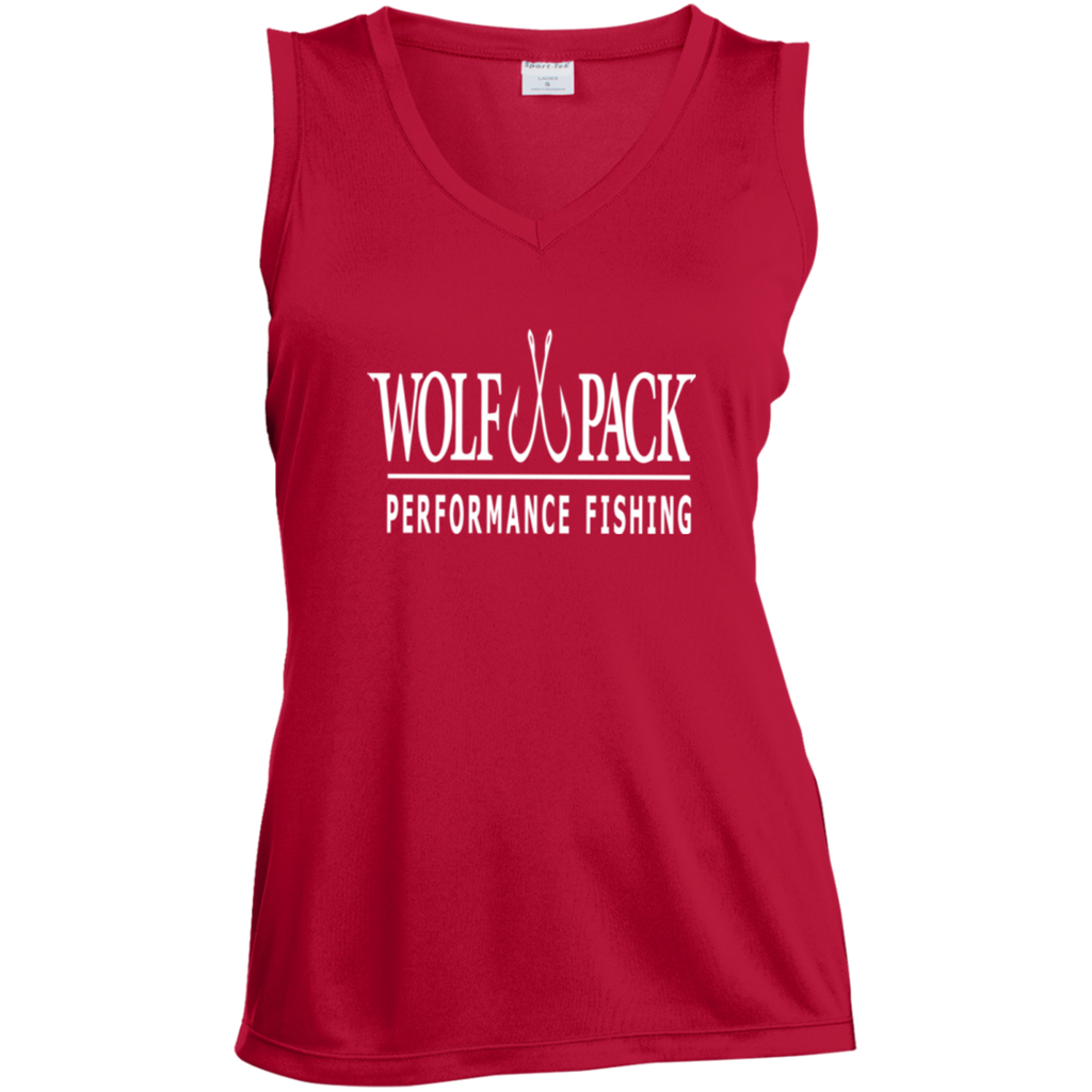 Wolf Pack Ladies Sleeveless Moisture Absorbing V-Neck