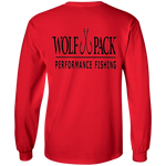 Kids Long Sleeve Wolf Pack Fishing (Front and Back)