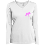 Lady Pink Wolf Performance V-Neck