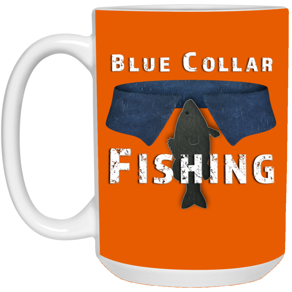 Blue Collar Fishing Coffee Mug