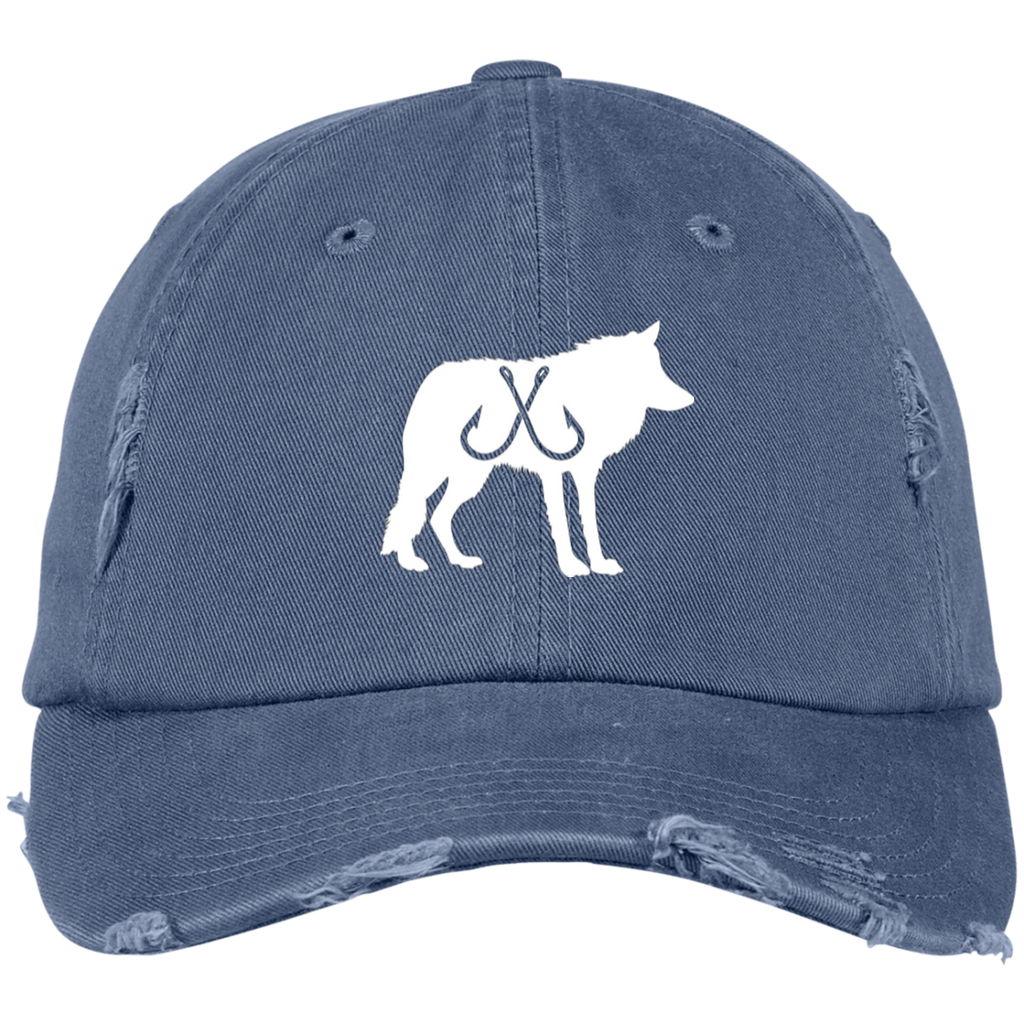 Wolf Pack Distressed Dad Hat