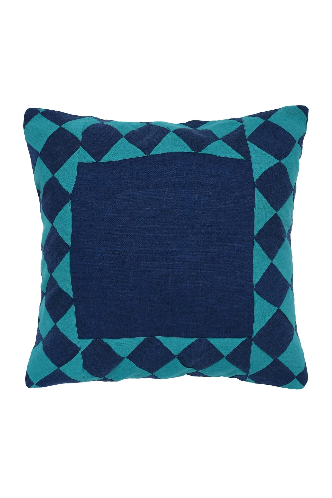 Ralli Work Blue and Turquoise Cushion Cover