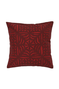 Hand Applique Red Cushion Cover