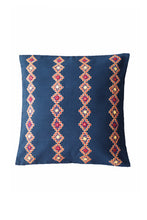 Load image into Gallery viewer, Kharak Stripe Pattern Embroidered Cushion Cover 16X16