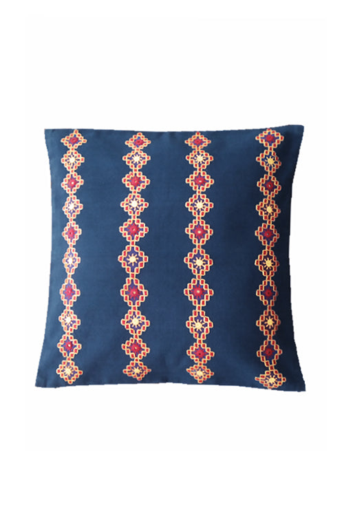 Kharak Stripe Pattern Embroidered Cushion Cover 16X16