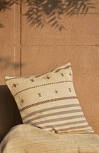 Load image into Gallery viewer, Chokhla Wool Cushion Cover with extra weft stripes and motifs