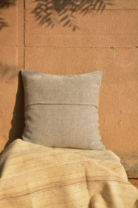 Chokhla Wool Cushion Cover with extra weft stripes and motifs