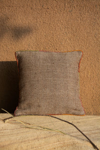 Chokhla Wool Cushion Cover with extra weft along with embroidery detailing