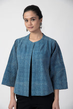 Load image into Gallery viewer, Indigo Kantha Cotton Short Jacket