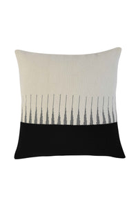 Black & White Extra Weft Hand Woven Cushion Cover