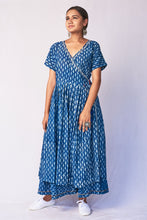 Load image into Gallery viewer, Indigo Dabu Angrakha kurta