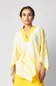 Yellow Shibori Cotton Top