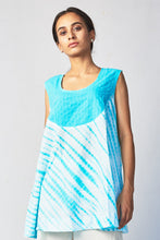 Load image into Gallery viewer, Blue Shibori Cotton Top
