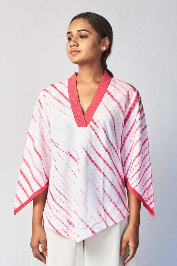 Pink Shibori Cotton Top