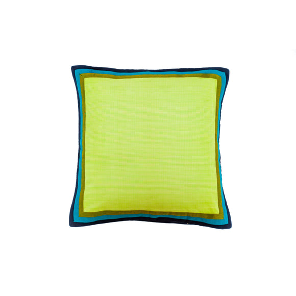 Green Hand Woven Cushion Cover