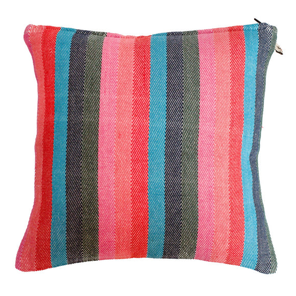 Multicoloured Hand Woven Cushion Cover