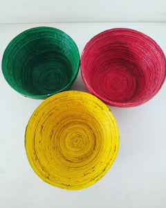 Upcycled Round Multipurpose Bowls - A set of 3 bowls