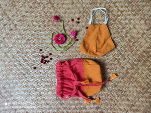 Raksha Kit in Pink and Mustard