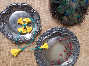 Floral Yellow Rakhi