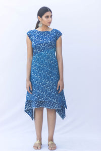 Indigo Dabu Stylized Layered Dress