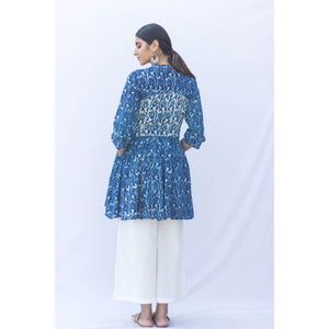 Indigo Dabu Flair Top