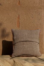 Load image into Gallery viewer, Chokhla Wool Cushion Cover with extra weft along with embroidery detailing