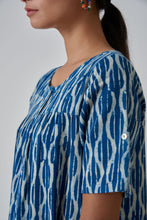 Load image into Gallery viewer, Indigo Dabu Style Tunic
