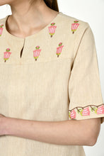 Load image into Gallery viewer, Noorbagh Top With Stitch Down Box Pleat Detailing