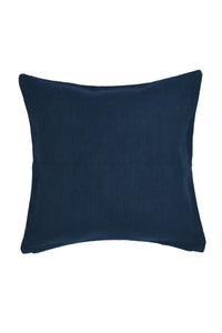 Suti Diamond Motif Extra Weft Woven 16X16 Cushion Cover in Navy