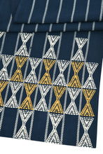 Load image into Gallery viewer, Suti Extra Weft Woven Table Runner in Navy
