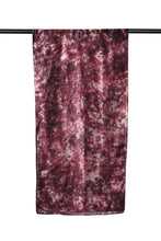 Load image into Gallery viewer, Reshmi Maroon and Grey Marble Tie-Dye Bamboo Silk Stole