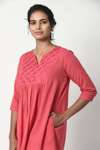 Load image into Gallery viewer, Dusty Pink Gathered Kurta